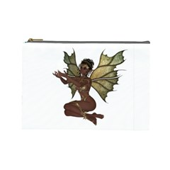 Faerie Nymph Fairy with outreaching hands Cosmetic Bag (Large)