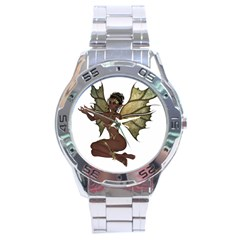 Faerie Nymph Fairy With Outreaching Hands Stainless Steel Watch