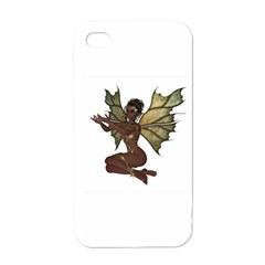 Faerie Nymph Fairy With Outreaching Hands Apple Iphone 4 Case (white)