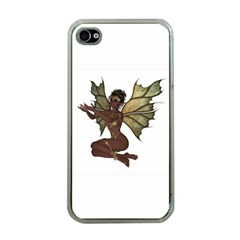 Faerie Nymph Fairy with outreaching hands Apple iPhone 4 Case (Clear)