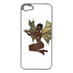 Faerie Nymph Fairy With Outreaching Hands Apple Iphone 5 Case (silver)