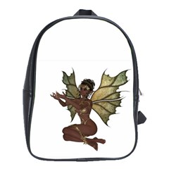 Faerie Nymph Fairy with outreaching hands School Bag (XL)