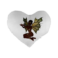 Faerie Nymph Fairy With Outreaching Hands 16  Premium Heart Shape Cushion