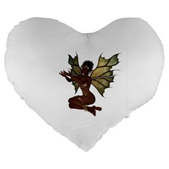 Faerie Nymph Fairy with outreaching hands 19  Premium Heart Shape Cushion