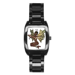 Faerie Nymph Fairy With Outreaching Hands Stainless Steel Barrel Watch