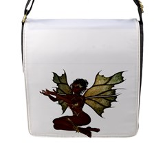 Faerie Nymph Fairy Flap Closure Messenger Bag (large)