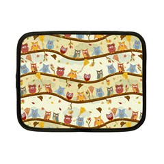 Autumn Owls Netbook Sleeve (Small)