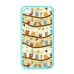 Autumn Owls Apple Iphone 4 Case (color)