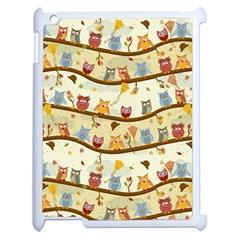 Autumn Owls Apple iPad 2 Case (White)
