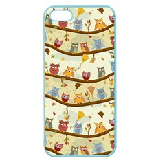 Autumn Owls Apple Seamless iPhone 5 Case (Color)