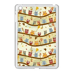 Autumn Owls Apple Ipad Mini Case (white)