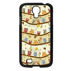 Autumn Owls Samsung Galaxy S4 I9500/ I9505 Case (Black)