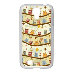 Autumn Owls Samsung GALAXY S4 I9500/ I9505 Case (White)