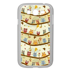 Autumn Owls Samsung Galaxy Grand Duos I9082 Case (white)