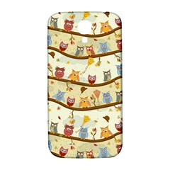 Autumn Owls Samsung Galaxy S4 I9500/I9505  Hardshell Back Case