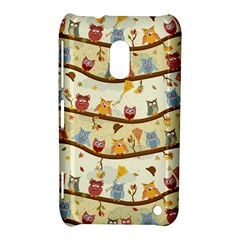 Autumn Owls Nokia Lumia 620 Hardshell Case