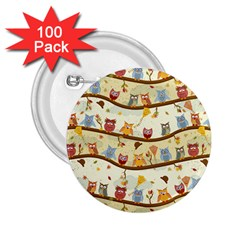 Autumn Owls 2.25  Button (100 pack)