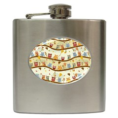 Autumn Owls Hip Flask