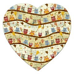 Autumn Owls Jigsaw Puzzle (Heart)