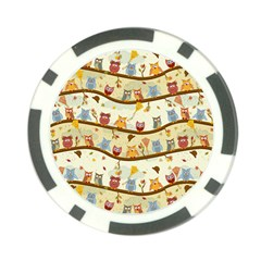 Autumn Owls Poker Chip (10 Pack)