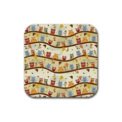 Autumn Owls Drink Coaster (square)