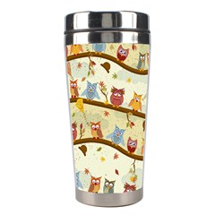 Autumn Owls Stainless Steel Travel Tumbler