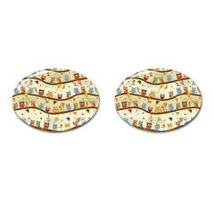 Autumn Owls Cufflinks (Oval)