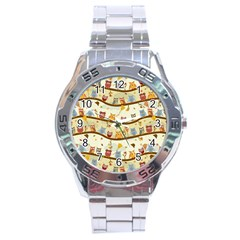 Autumn Owls Stainless Steel Watch