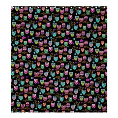 funky owls Shower Curtain 66  x 72  (Large)