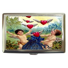 Vintage Valentine Cherubs Cigarette Money Case