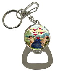 Vintage Valentine Cherubs Bottle Opener Key Chain