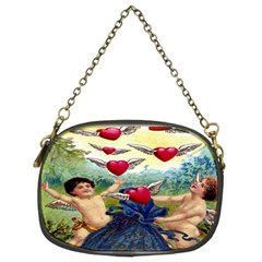 Vintage Valentine Cherubs Chain Purse (Two Sided)