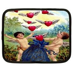 Vintage Valentine Cherubs Netbook Sleeve (XL)