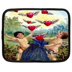 Vintage Valentine Cherubs Netbook Sleeve (XXL)