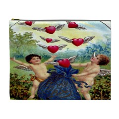 Vintage Valentine Cherubs Cosmetic Bag (XL)