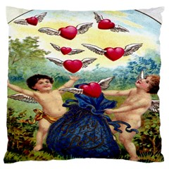 Vintage Valentine Cherubs Large Cushion Case (Single Sided)