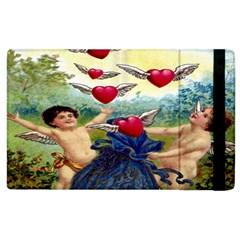 Vintage Valentine Cherubs Apple iPad 2 Flip Case