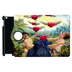 Vintage Valentine Cherubs Apple iPad 3/4 Flip 360 Case