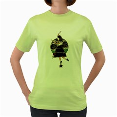 People cant wait your show Womens  T-shirt (Green)
