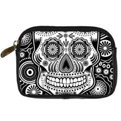 Skull Digital Camera Leather Case