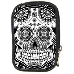 skull Compact Camera Leather Case