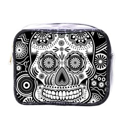 Skull Mini Toiletries Bag (one Side)