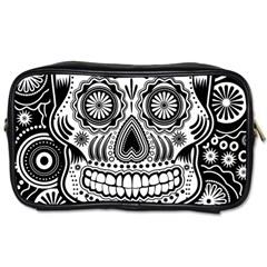 skull Travel Toiletry Bag (Two Sides)