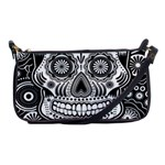 skull Shoulder Clutch Bag Front