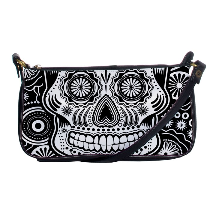 skull Shoulder Clutch Bag