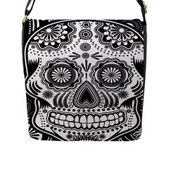 skull Flap Closure Messenger Bag (Large)
