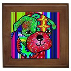 Pug Framed Ceramic Tile