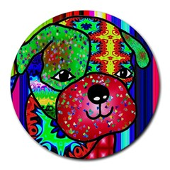 Pug 8  Mouse Pad (Round)