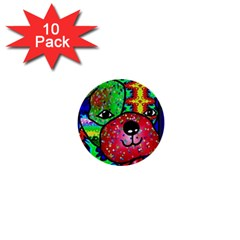 Pug 1  Mini Button (10 pack)