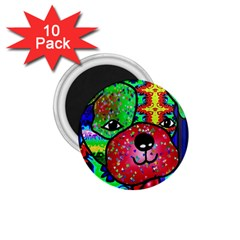 Pug 1.75  Button Magnet (10 pack)